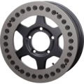 JMX16 Beadlock : Matte Black & Mist Gray (Race Ring)