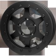 JMX16 Beadlock : Matte Black & Matte Black (Street Ring)